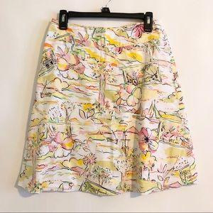 Express Hawaiian Print Skirt Lined